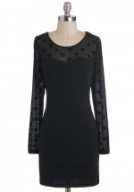 Similar dress with polka dots at Modcloth