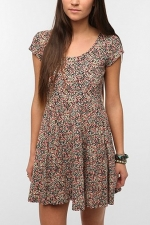 Similar floral dress at Urban Outfitters at Urban Outfitters