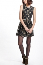 Similar gold floral dress from Anthropologie at Anthropologie