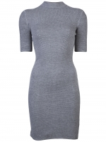 Similar grey dress with high neck at Farfetch