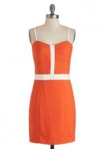 Similar orange dress at Modcloth at Modcloth