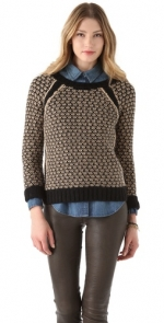 Similar patterned sweater with black panels at Shopbop