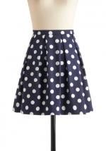 Similar polka dot skirt at Modcloth