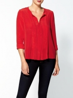 Similar red blouse by Vince at Piperlime