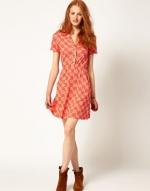 Similar red printed dress from ASOS at Asos