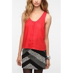 Similar red tank top at Urban Outfitters at Urban Outfitters