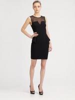 Similar sheer black dress by Aidan Mattox at Saks Fifth Avenue