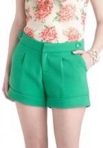 Similar shorts in green at Modcloth