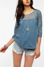 Similar top in blue at Urban Outfitters