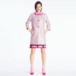 Simlar pink coat by Kate Spade at Kate Spade