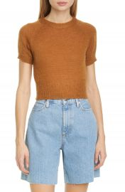 Simon Miller Flinder Short Sleeve Crop Sweater   Nordstrom at Nordstrom