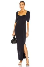 Simon Miller Mies Square Neck Dress in Black   FWRD at Forward