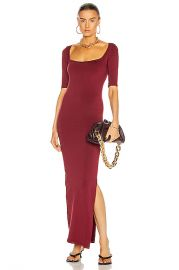 Simon Miller Mies Square Neck Dress in Burgundy   FWRD at Forward