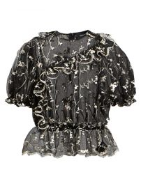Simone Rocha - Embroidered Lace Bubble Top at Saks Fifth Avenue