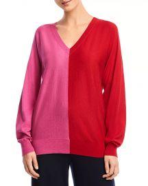 Simone Color-Block Cutout Sweater at Bloomingdales