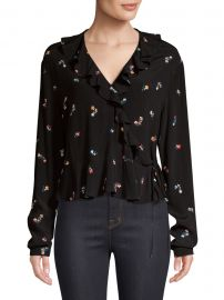Simone Floral Wrap Blouse at Saks Off 5th