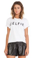 Sincerely Jules Celfie Tee in White  REVOLVE at Revolve