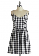 Singing in Gingham Dress at ModCloth