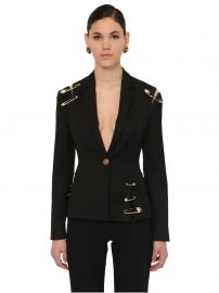 Single Breast Gabardine Jacket by Versace at Luisaviaroma