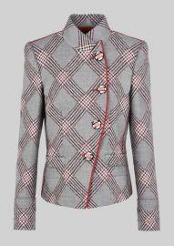 Single Breasted Wool Jacquard Jacket at Giorgio Armani