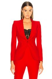 Single Button Blazer Alexander McQueen at Forward