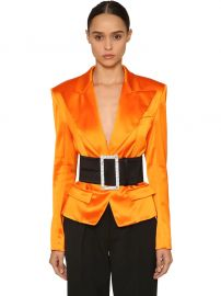 Single Button Satin Blazer by Alexandre Vauthier at Luisaviaroma