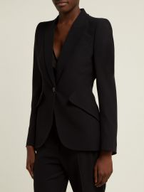 Single-breasted crepe blazer at Matches