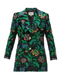 Single-breasted floral-jacquard velvet Jacket by Gucci at Matches