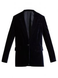 Single-breasted velvet blazer at Matches