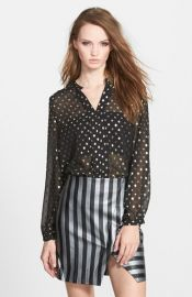 Sister Jane and39Novaand39 Gold Dot Blouse at Nordstrom