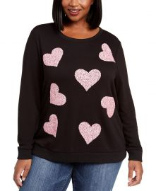 Size Sequin-Heart Sweatshirt at Macys