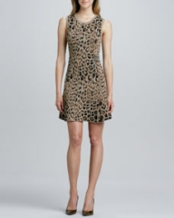 Skaist Taylor A-line Dress with Cutout at Neiman Marcus