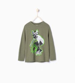 Skater Dog Tshirt at Zara