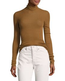 Skinny Rib Turtleneck Sweater at Neiman Marcus