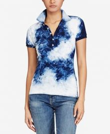 Skinny Stretch Tie-Dye Polo by Ralph Lauren  at Macys