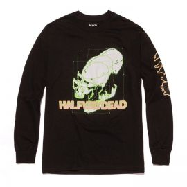 Skull Graphic Hoodie by Halfway Dead at Halfway Dead