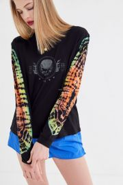 Skull Tie-Dye Long Sleeve Tee by Future State at Urban Outfitters