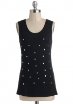 Skull dot tank top at Modcloth
