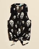 Skull print blouse by Vintage Havana at Bloomingdales
