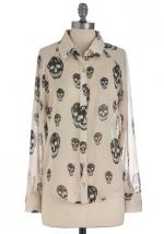 Skull print shirt at Modcloth at Modcloth