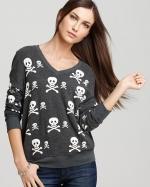 Skull print sweater by Wildfox at Bloomingdales