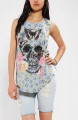 Skull stretch muscle tee by DOE at Urban Outfitters