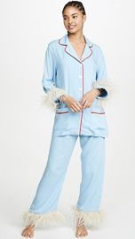 Sleeper Blue PJ Set With Feathers at Shopbop