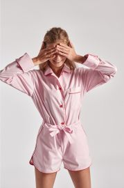 Sleeper Donut Pink Pajama Set with Shorts at Sleeper