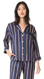Sleepy Jones Silk Marina Pajama Shirt at Shopbop