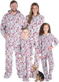 SleepytimePJs Matching Family Christmas Pajama Sets  Snowflake Footed Onesies at Amazon