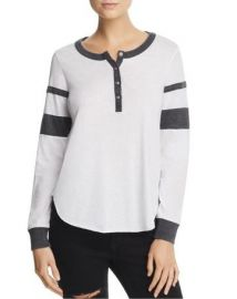 Sleeve Stripe Henley Tee by Chaser at Bloomingdales