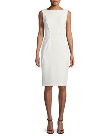 Sleeveless Boat-Neck Sheath Dress at Neiman Marcus