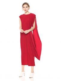 Sleeveless Draped Long Dress at Amazon