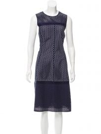 Sleeveless Eyelet Dress by Lela Rose at The Real Real